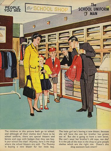 The School Uniform Man. People You See, from Teddy Bear magazine, 1966.