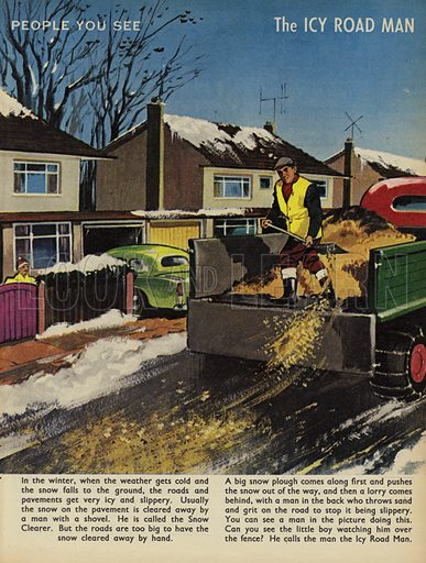 The Icy Road Man. People You See, from Teddy Bear magazine, 1966.