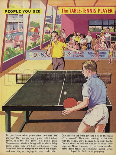 The Table-Tennis Player. People You See, from Teddy Bear magazine, 1968.