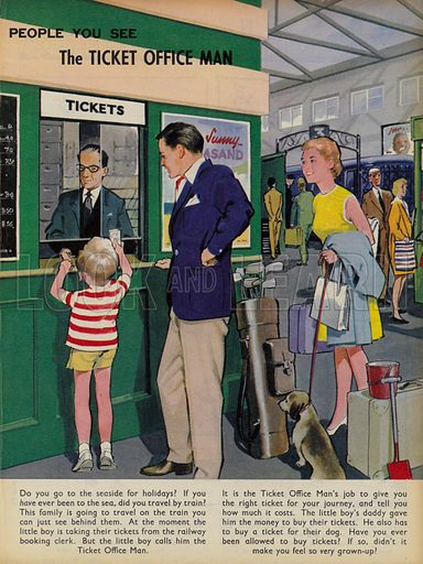 The Ticket Office Man. People You See, from Teddy Bear magazine, 1968.