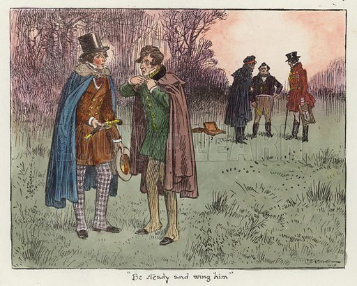 Illustration for the Pickwick Papers.