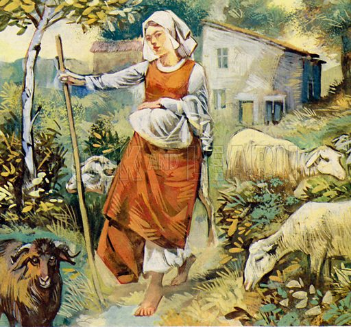 Joan of Arc was born in Domremy and tended sheep