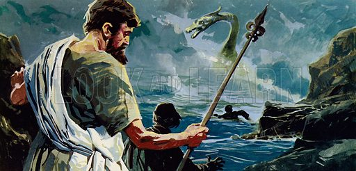 St Columba and the Loch Ness monster