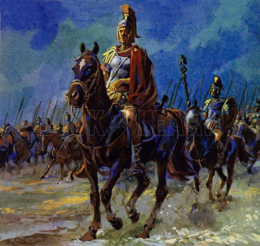 Julius Caesar force marched his troops to Gaul to put down the revolt