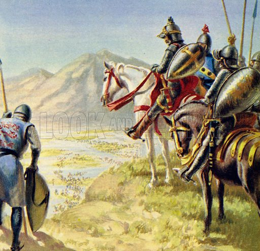 El Cid flooded the southern lands and swamped the Moors