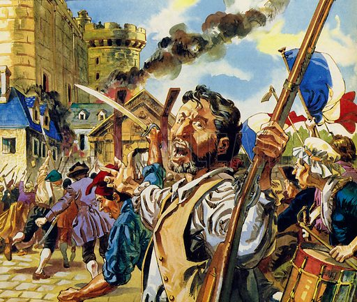 In Paris, the French Revolution began with the storming of the Bastille