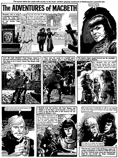 The Adventures of Macbeth. Comic strip from Ranger (1965).