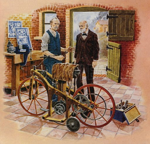 Gottlieb Daimler and his friend Wilhelm Maybach worked together to develop the first petrol-fuelled motor cycle.
