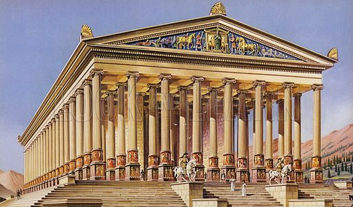 The Temple of Artemis, Ephesus, one of the Seven Wonders of the Ancient World.