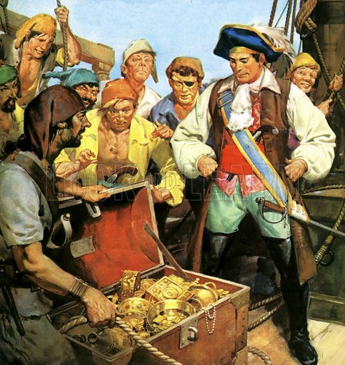 Captain Kidd's lost treasure, the secret of which he took to the gallows in 1701
