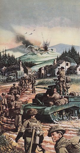 The Battle of Monte Cassino.