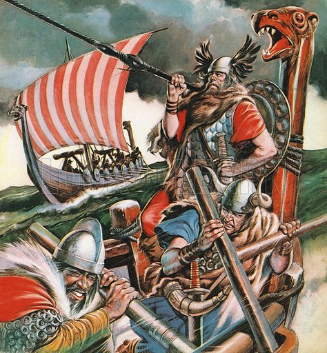 Vikings, picture, image, illustration