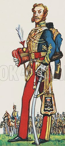 Lord Cardigan, Commander in Chief of the 11th Hussars.