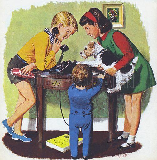 Telephoning, 1960s, England.