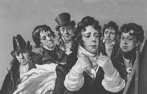 Beau Brummell. The sight of Brummel tying his famous cravat was worth waiting for.