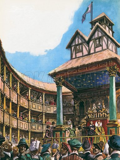 Theatre in London at the time of Queen Elizabeth I.