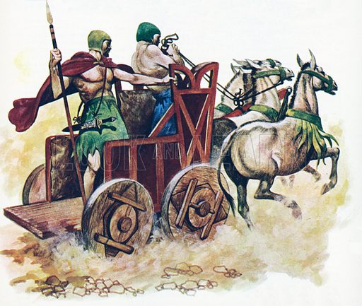 Sumerian chariot.