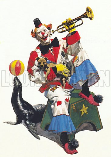 clown, picture, image, illustration