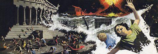 The destruction of Atlantis.