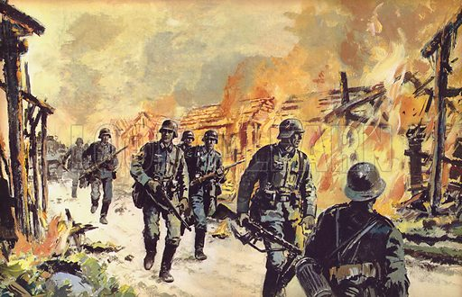 Operation Barbarossa. During the first 18 days of the campaign in the East, German forces had covered 400 miles and had taken 150,000 prisoners.