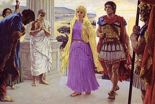 Helen Of Troy. When Paris brought Helen back to Troy as his bride, she was revered like a goddess by the Trojan citizens.