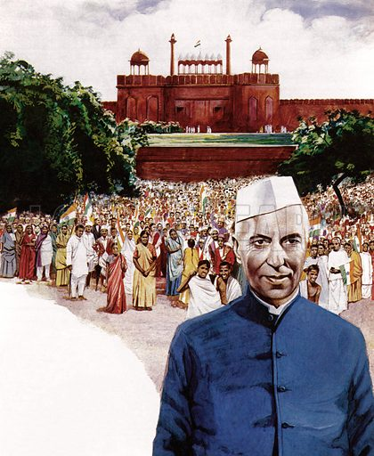 Jawaharlal Nehru, first Prime Minister of India.