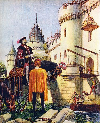 King Francis I of France, superintending the building of castles.