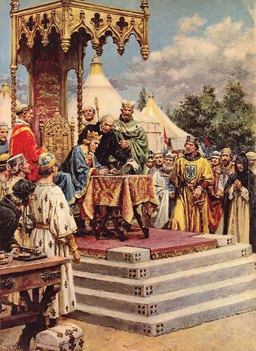 King John signing Magna Carta.