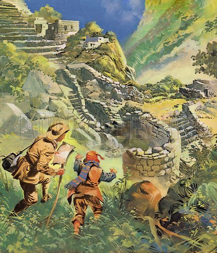 Where is the Secret City's Treasure? Hiram Bingham discovers the lost Incan city of Machu Picchu in Peru.
