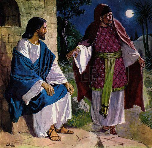 Nicodemus coming to Jesus Christ.