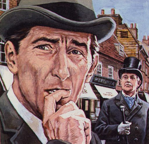 Arthur Conan Doyle's fictional detective Sherlock Holmes and his friend Doctor Watson.