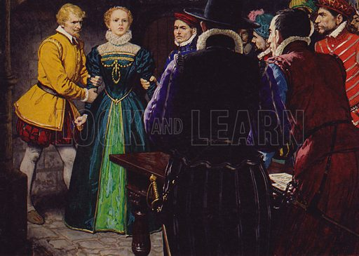 Mary Queen Of Scots.  After the death of her second husband, Darnley, and her marriage to the Earl of Bothwell, she was taken prisoner by revel Scottish lords.