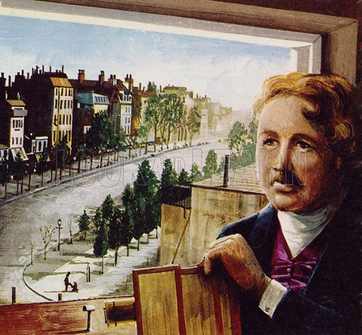 Louis Daguerre, picture, image, illustration