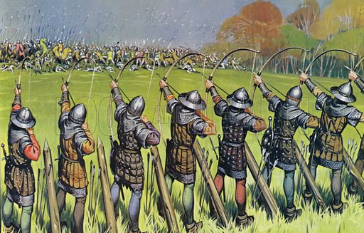 English archers at The Battle Of Agincourt