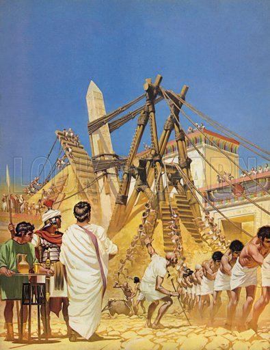 Raising Cleopatra's Needle in Egypt