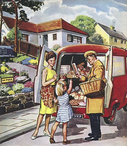 The Baker.  People You See, from Teddy Bear magazine, 1965.
