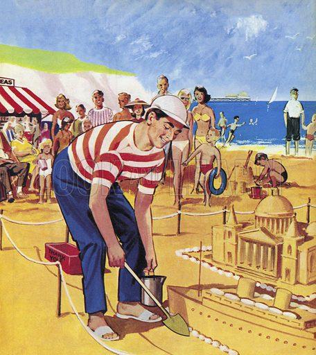 The Sand Model Man