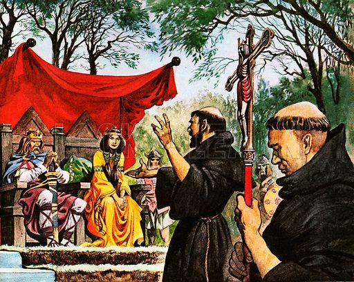 St Augustine, picture, image, illustration