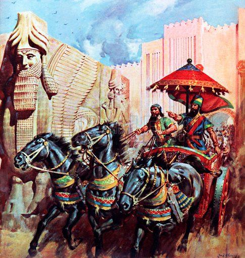 Assyrian conquerors, picture, image, illustration