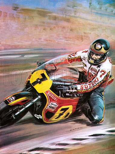 Motorcycle racing, picture, image, illustration