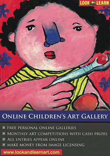 Advertisement for Look and Learn children's art gallery.