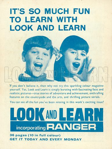 Advertisement for Look and Learn.