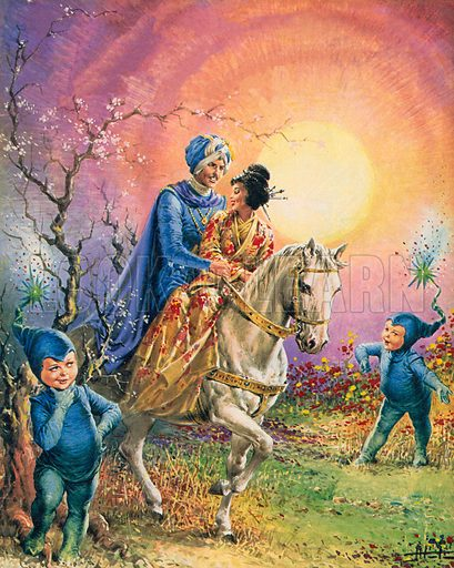 The story of Silver Moon. Illustration from Once Upon a Time.
