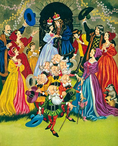 The marriage of Snow White. Illustration from Once Upon a Time.