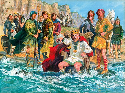 Canute, picture, image, illustration
