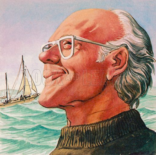 Sir Francis Chichester. Illustration from Once Upon a Time.