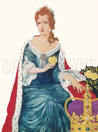 Queen Mary II. Illustration from Once Upon a Time.