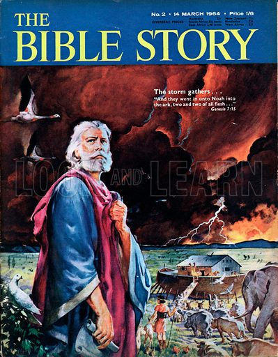 "Noah's Flood.  The storm gathers ...  ""And they went in unto Noah into the ark, two and two of all flesh ..."" (Genesis 7:15)."