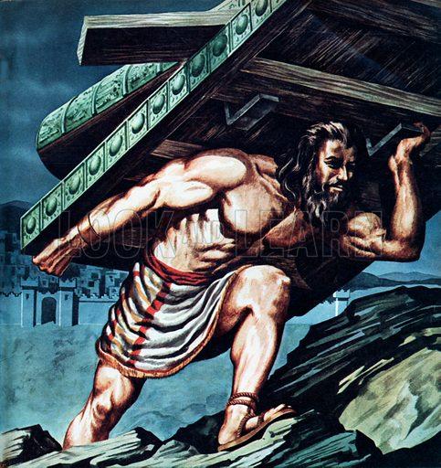 Samson carrying the Gate of Gaza.