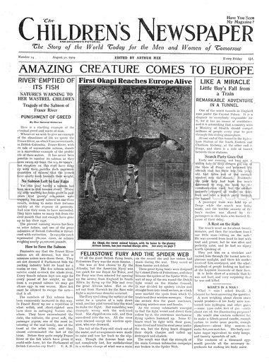 First okapi reaches Europe alive